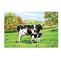 Cow and Calf by the Macneil Studio、12x 19インチキャンバス壁アート