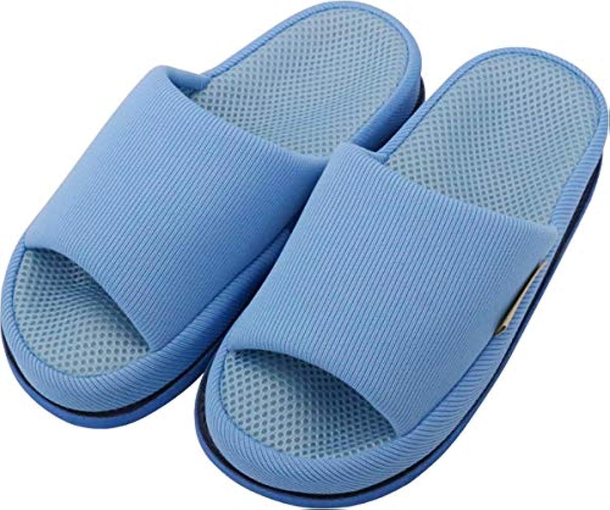 履歴書安らぎ後ろに足で癒す リフレクソロジースリッパ リフレ 親指の付け根 ライトブルー M