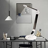LEDデスクランプ作業研究寝室のベッドサイドランプ寒さと暖かいタッチトーン調光ブラック