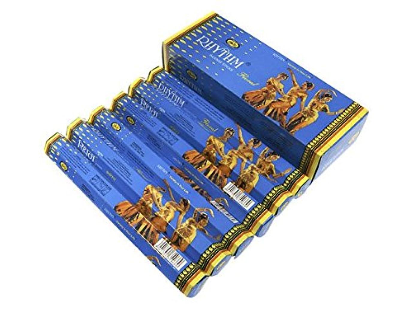 無効にする食品剃るCYCLE(サイクル) リズム香フローラル スティック RHYTHM FLORAL 6箱セット