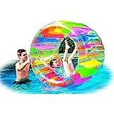 ウォーター ホイール レインボー プール 水遊び ウォーター フロート 遊具 海 エアーマット [並行輸入品]