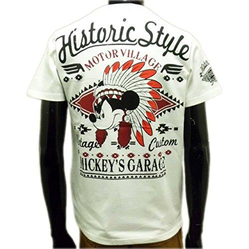 (ローブローナックル) LOWBLOWKNUCKLE×ミッキーマウス(Disney)ディズニーコラボレーション半袖Tシャツ (M) 白
