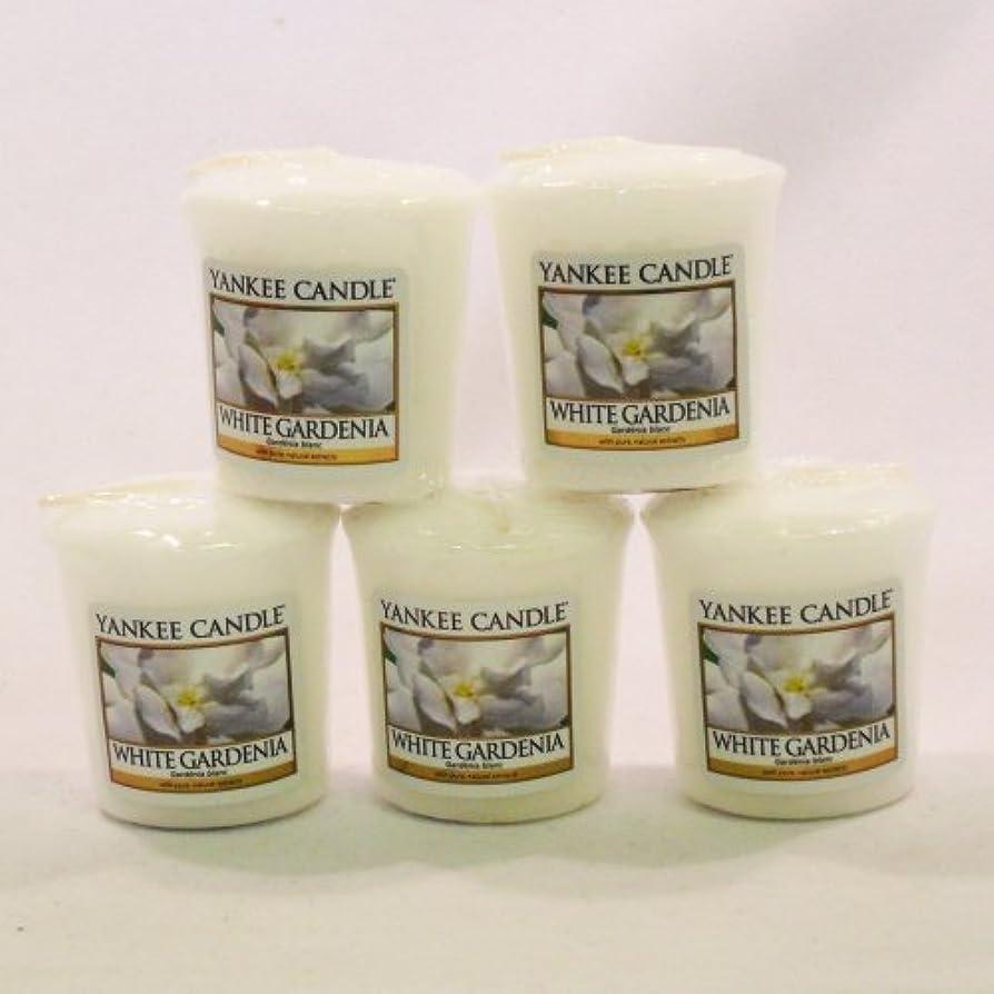 処方するボトルネック里親Yankee Candleサンプラーvotives-yankee Candle – 5 xホワイトGardenia Votive Samplers – 新しい香りfor 2012 。