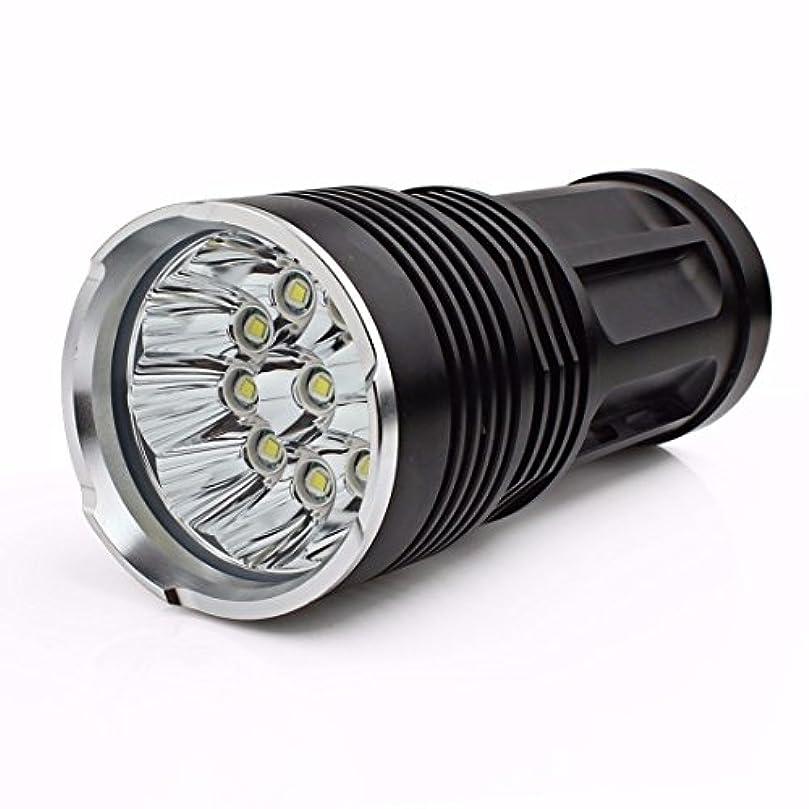 踏み台側溝そこフーポット 超高輝度 26000LM 11 x CREE XM-L T6 LED 懐中電灯 led sunspot flash light ハンティング?ランプ 強力 防水 登山 LED 探照ライト 防災グッズ アウトドア 4 x 18650対応