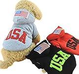 ニューバランス ジャージ ange select スポーティー カジュアル ファッション 犬 ペット 用 ウエア 服 フード 付き USA 英字 ロゴ パーカー 国旗 アメリカ