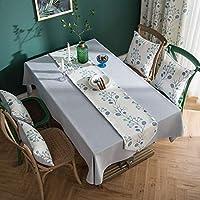 テーブルクロス 綿麻 北欧風 花柄 防塵 耐熱 洗える 食卓カバー テーブルマット テーブルカバー おしゃれ 長方形 正方形 ティーテーブル 台所 ダイニング インテリア キッチン用品 120*120cm