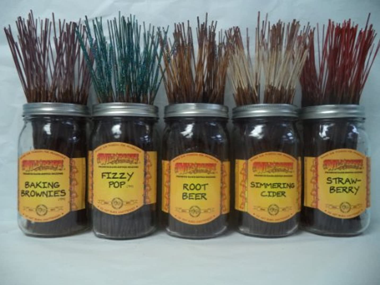 しなやかなヤングかごWildberry Incense Sticks Foodlike Scentsセット# 1 : 4 Sticks各5の香り、合計20 Sticks 。