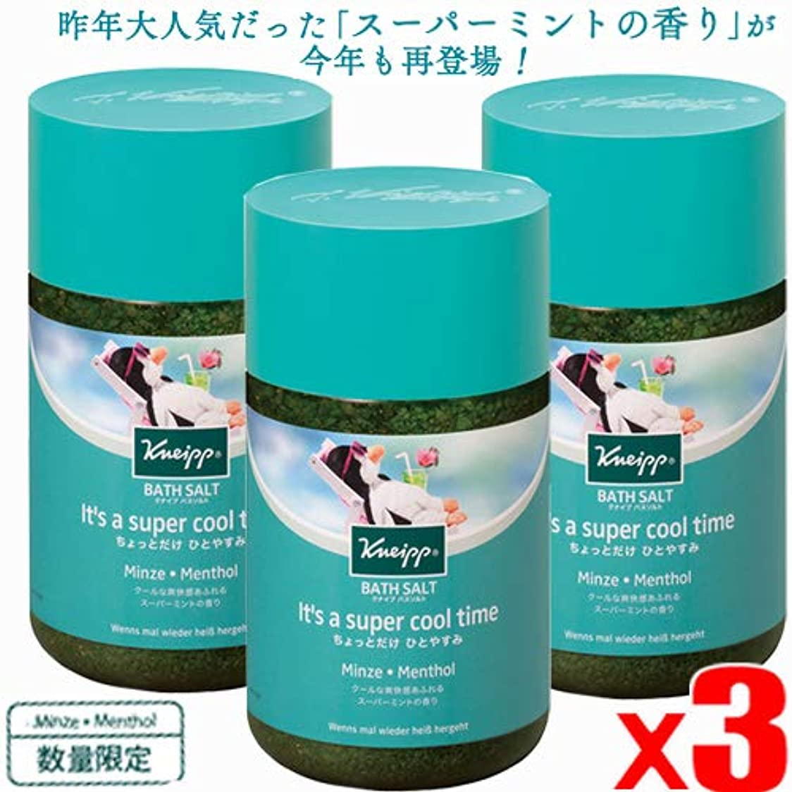 リース提供されたハードリング【3個】クナイプ バスソルト スーパーミントの香り 850gx3個(4580294852975-3)