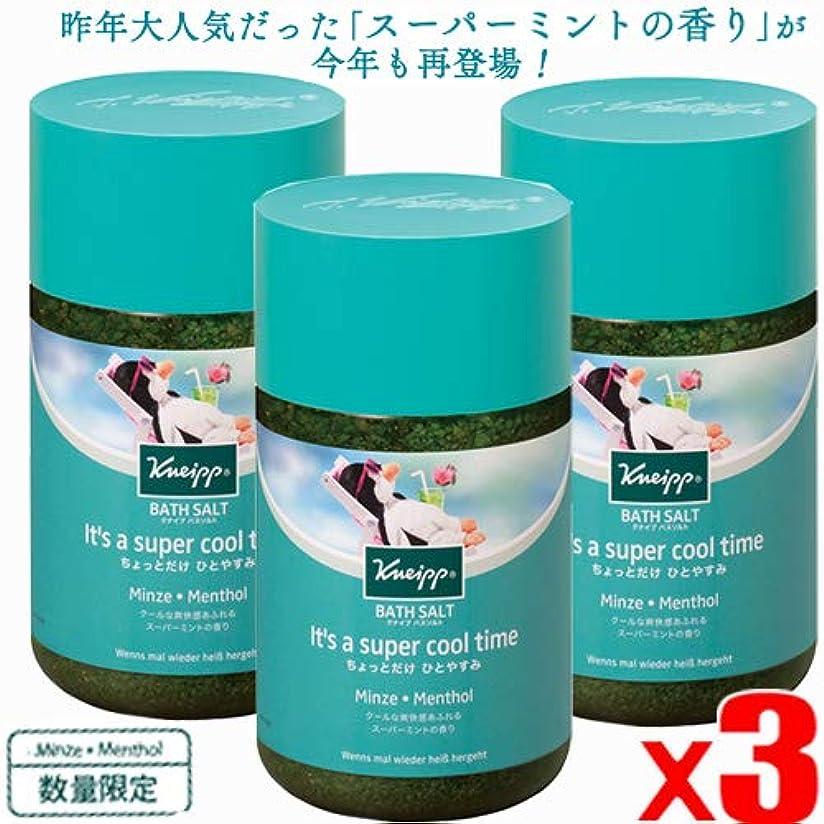 完璧なほこり補充【3個】クナイプ バスソルト スーパーミントの香り 850gx3個(4580294852975-3)