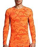 (オナー)HONOUR メンズ スポーツシャツ コンプレッションウェア MA46 オレンジ M