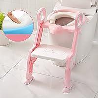 子供用トイレステップスツールは、1歳から7歳までのお子様に適しています。安全で、毒性がなく、簡単に折りたたむことができます。あなたの赤ちゃんのトイレを独立して使う習慣を育む。 5つの色はオプションです。 (色 : Crystal Pink)