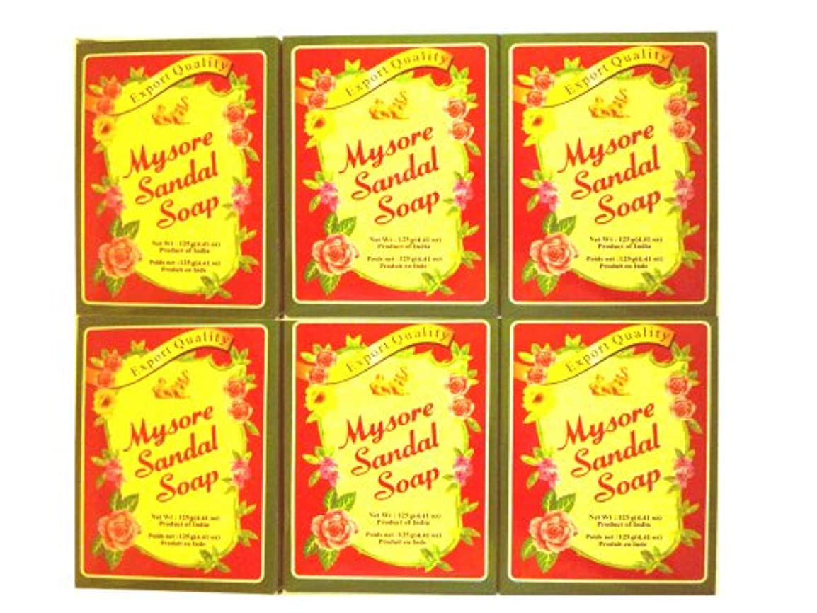 祝福する方言ランドリー高純度白檀油配合 マイソール サンダルソープ 75g 6個セット