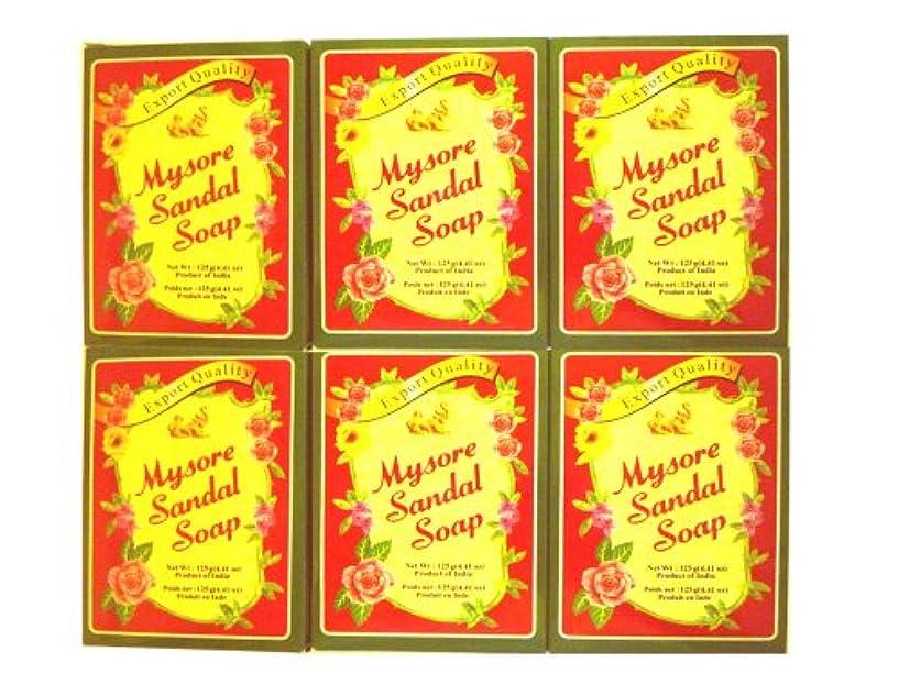 ふさわしい温帯些細な高純度白檀油配合 マイソール サンダルソープ 125g 6個SET