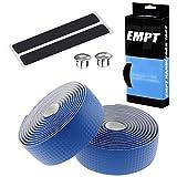 EMPT(イーエムピーティー) カーボン調ロード用 バーテープ ES-JHT020 EMPT クッション製に優れたEVA製カーボン調加工 バーテープ ロード ピスト ドロップハンドルバーテープ ※エンドキャップ、エンドテープ付属(カーボン調青(ブルー))