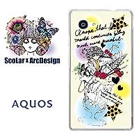 スカラー scr50031 スマホケース スマホカバー SHV33 シャープ SHARP AQUOS SERIE mini アクオス スカラコ パフェ イエロー かわいい ファッションブランド