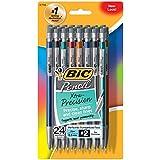 BIC Xtra-Precision Mechanical Pencil, Metallic Barrel, Fine Point (0.5mm), 24-Count
