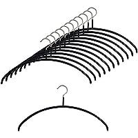 マワ すべり落ちない MAWAハンガー 「エコノミック40」 カットソー アンサンブル用 Mサイズ ブラック 12本組 MA3120-SET12