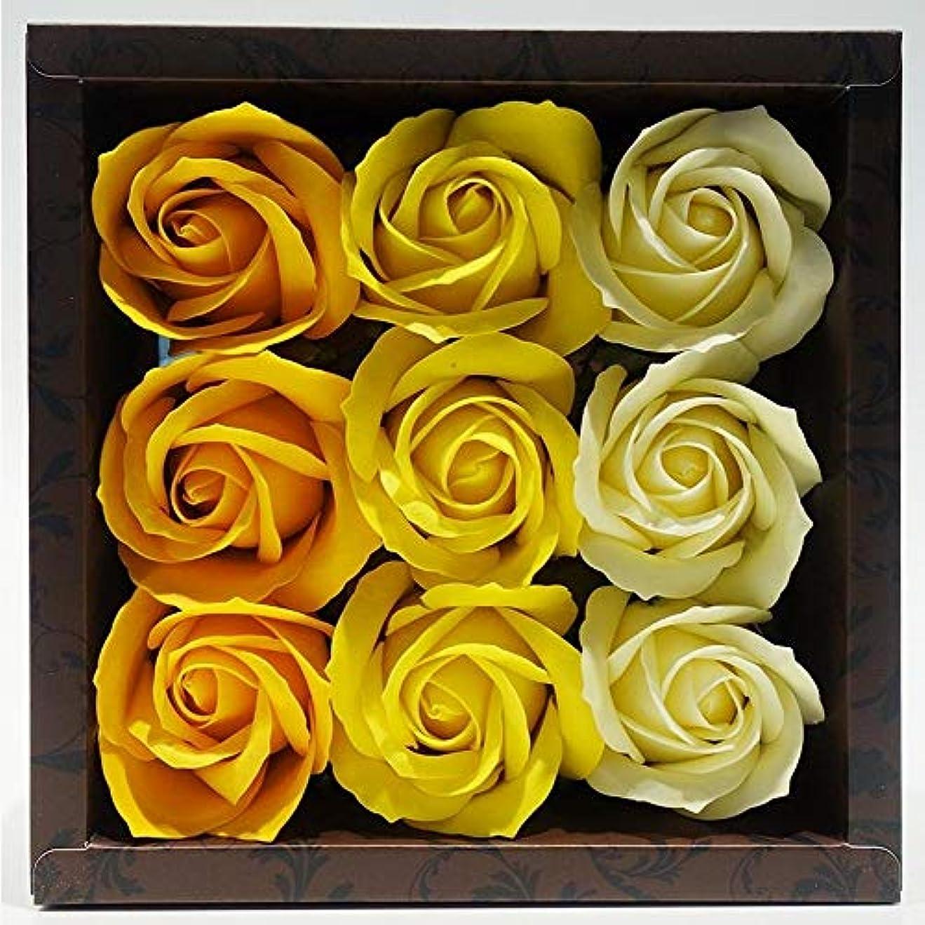 チェス何故なの調和のとれたバラの形の 入浴剤 ローズ バスフレグランス フラワーフレグランス バスボム バスぺタル (イエロー)