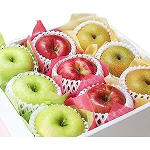 【 敬老の日 ・ 贈答用 】 林檎と梨の彩 フルーツセット (中)