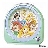 セイコークロック 置き時計 02:緑パール 本体サイズ:13.0×12.7×7.1cm 目覚まし時計 アナログ ディズニープリンセス FD989M