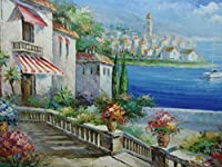 "地中海Oil Painting by Damini 36"" x 24"" dsc06259"