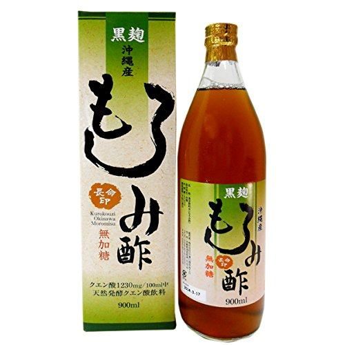 沖縄県産黒麹もろみ酢 無加糖タイプ 900ml