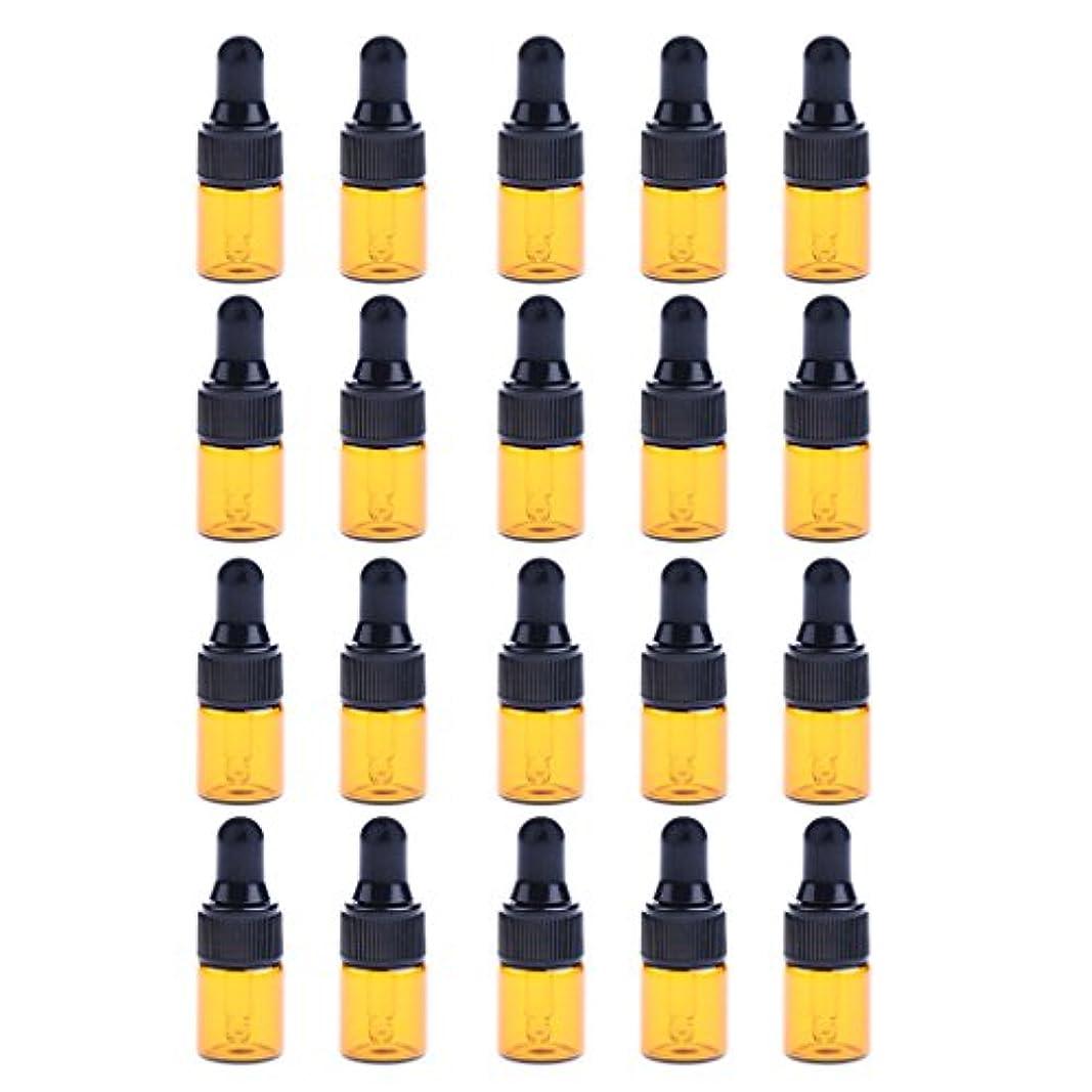 シャンプーロック解除ヒューマニスティックIPOTCH 約20個 ドロッパーボトル エッセンシャルオイル ミニサイズ 詰め替え可 ガラス スポイトボトル 3サイズ選べる - 1ML