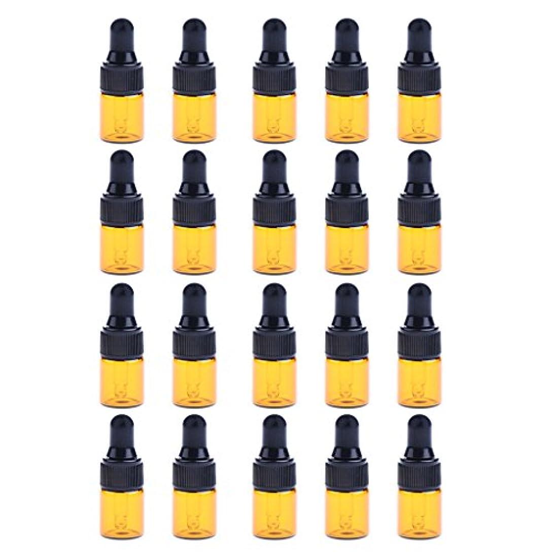 役割成熟した入学するIPOTCH 約20個 ドロッパーボトル エッセンシャルオイル ミニサイズ 詰め替え可 ガラス スポイトボトル 3サイズ選べる - 2ML