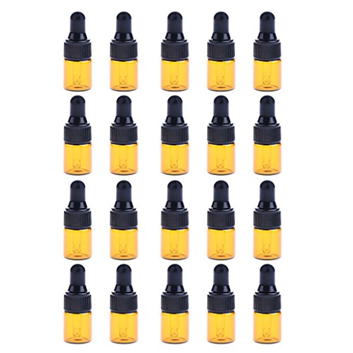 インポート美人遠洋のP Prettyia ドロッパーボトル エッセンシャルオイル ガラスボトル 化粧ボトル 約20個 3サイズ選べる - 3ML