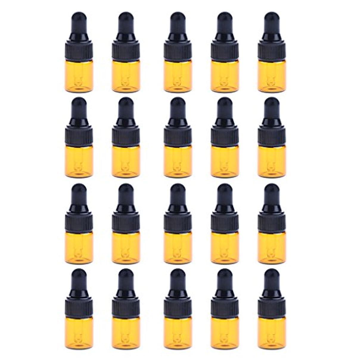 スクレーパー慢民兵P Prettyia ドロッパーボトル エッセンシャルオイル ガラスボトル 化粧ボトル 約20個 3サイズ選べる - 3ML