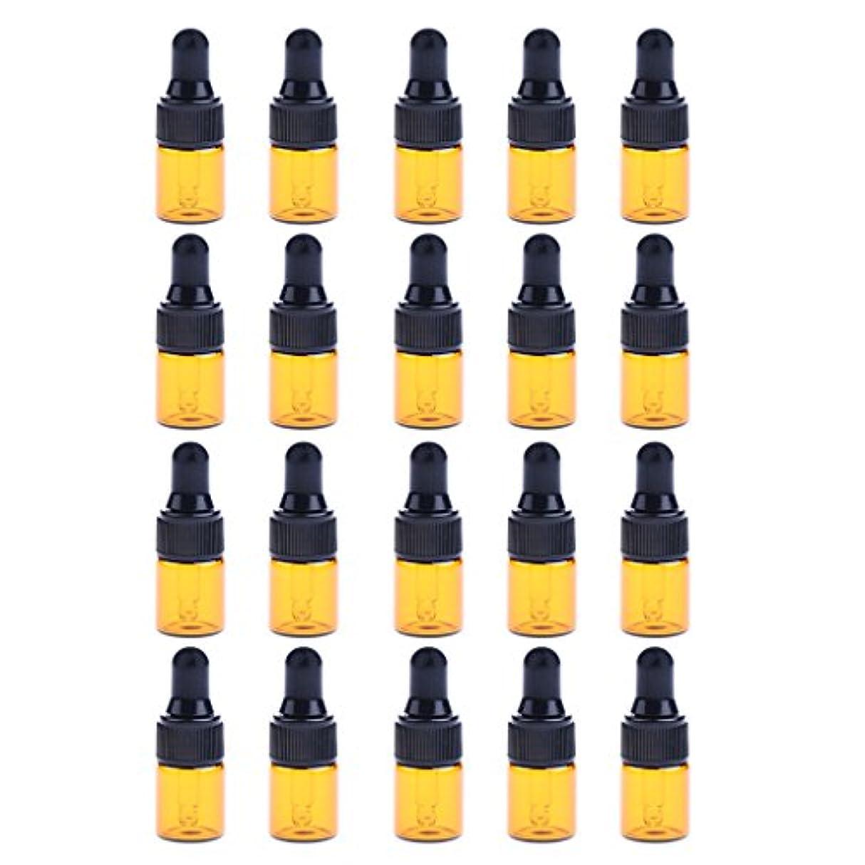 アクセサリー回答ラフトIPOTCH 約20個 ドロッパーボトル エッセンシャルオイル ミニサイズ 詰め替え可 ガラス スポイトボトル 3サイズ選べる - 3ML