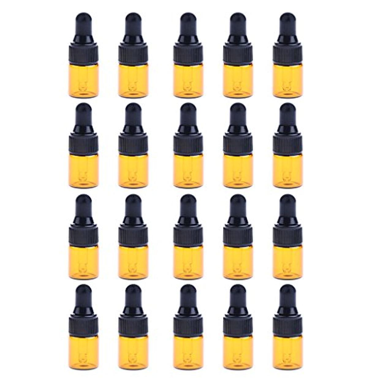 ハイジャックチャップ手荷物P Prettyia ドロッパーボトル エッセンシャルオイル ガラスボトル 化粧ボトル 約20個 3サイズ選べる - 3ML