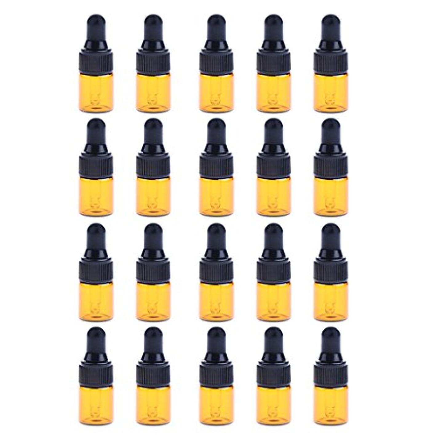 デュアルバイナリチャームP Prettyia ドロッパーボトル エッセンシャルオイル ガラスボトル 化粧ボトル 約20個 3サイズ選べる - 3ML