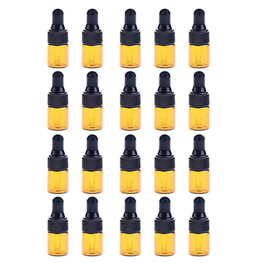 スピーチ平衡インストールIPOTCH 約20個 ドロッパーボトル エッセンシャルオイル ミニサイズ 詰め替え可 ガラス スポイトボトル 3サイズ選べる - 1ML