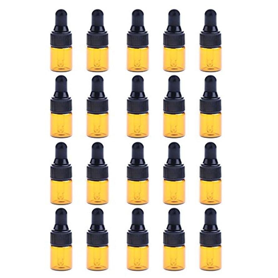 ポテトレクリエーション味わうIPOTCH 約20個 ドロッパーボトル エッセンシャルオイル ミニサイズ 詰め替え可 ガラス スポイトボトル 3サイズ選べる - 2ML