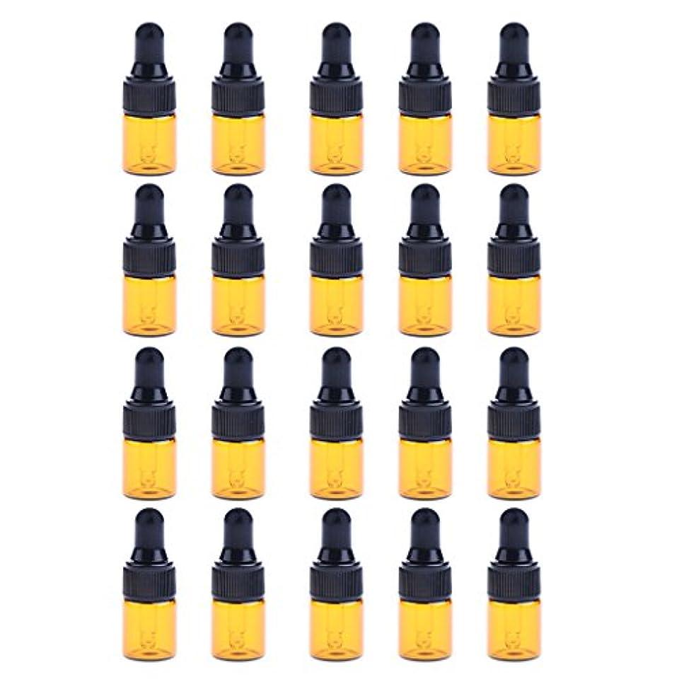 カスタム写真を描く誕生日P Prettyia ドロッパーボトル エッセンシャルオイル ガラスボトル 化粧ボトル 約20個 3サイズ選べる - 3ML