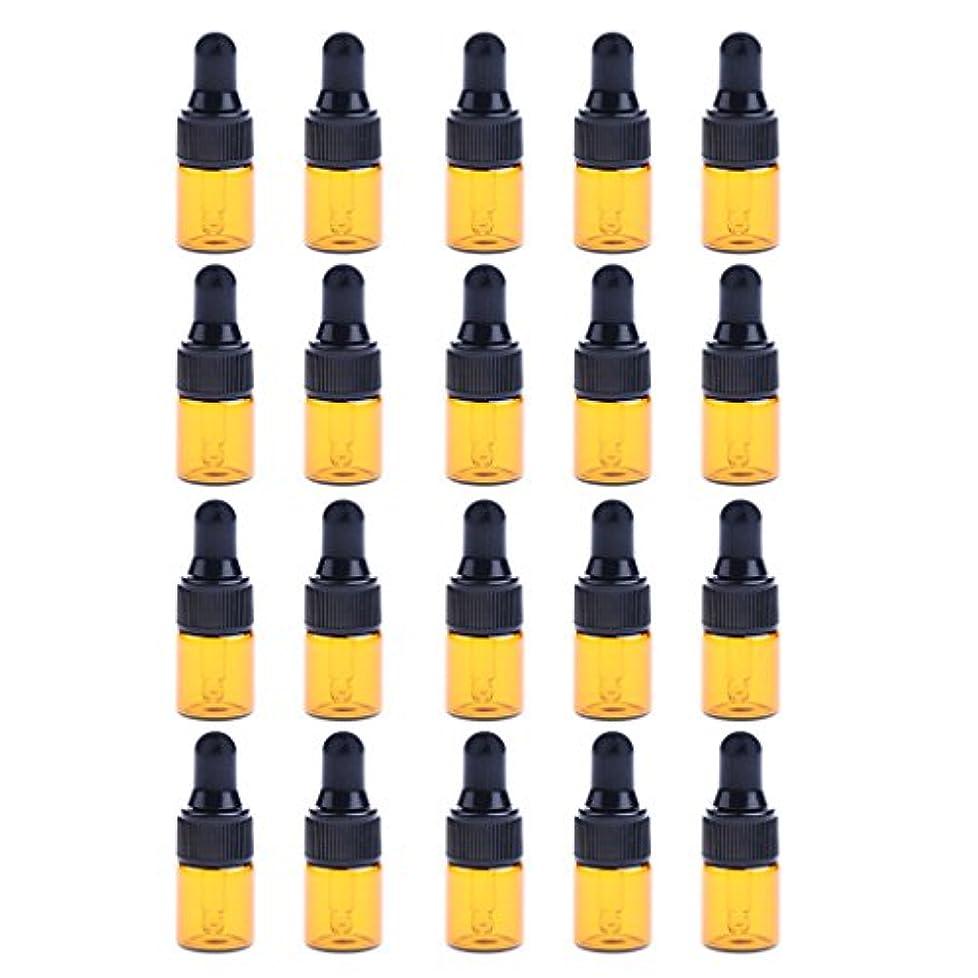 人事センチメンタル朝ごはんP Prettyia ドロッパーボトル エッセンシャルオイル ガラスボトル 化粧ボトル 約20個 3サイズ選べる - 3ML