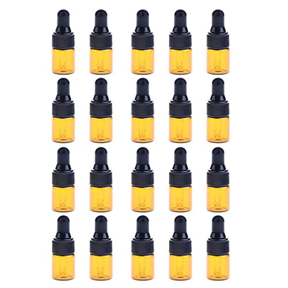 少なくとも寛容考慮ドロッパーボトル エッセンシャルオイル ガラスボトル 化粧ボトル 約20個 3サイズ選べる - 3ML