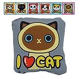 YATDA 猫おもちゃ ミニ抱き枕型 おもちゃ キャットニップ入り けりぐるみ 猫 運動不足 ストレス解消 ダイエット用 ペット遊びおもちゃ (シャム猫)