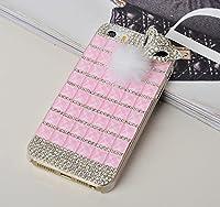 iPhone6 ケース アイフォン6ケース カバー 4.7インチ デコケース キラキラ ラインストーン 豪華 レディース アクセサリー 大人気 3Dデコ キツネの毛  F