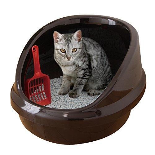 アイリスオーヤマ ネコのトイレハーフカバー くろ P-NE-500-H
