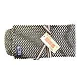 職人道楽 鉋袋 二重刺子 スモールサイズ 黒色 かんなの収納や持ち運びに