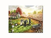 African Americanブラック教会葬式byコットンフィールド壁画像8x 10アートプリント