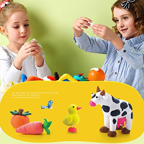Jar Melo Children 's Modeling Doughキット、クレイDough、12色、3.5オンス、1、スーパーソフト、Ecological ;
