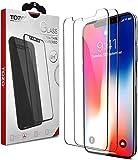 【2枚入り】TOZO iPhone X ガラスフィルム iPhone 10 / X 用 強化ガラス液晶保護フィルム [0.26mm] アイフォン X 対応