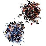 FLAMEER 約30g 紙吹雪 ハロウィーン 飾り クモ かぼちゃ 星 パーティー テーブルの紙吹雪