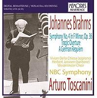 交響曲第4番、悲劇的序曲、ドイツ・レクィエム トスカニーニ&NBC交響楽団(2CD)