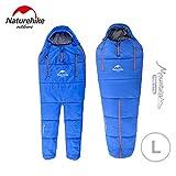 NatureHikeアウトドア キャンピング 人型寝袋 動ける寝袋 スリーピングバッグ 連結可能 [適正温度:5℃?10℃]NH16R200-X (blue)