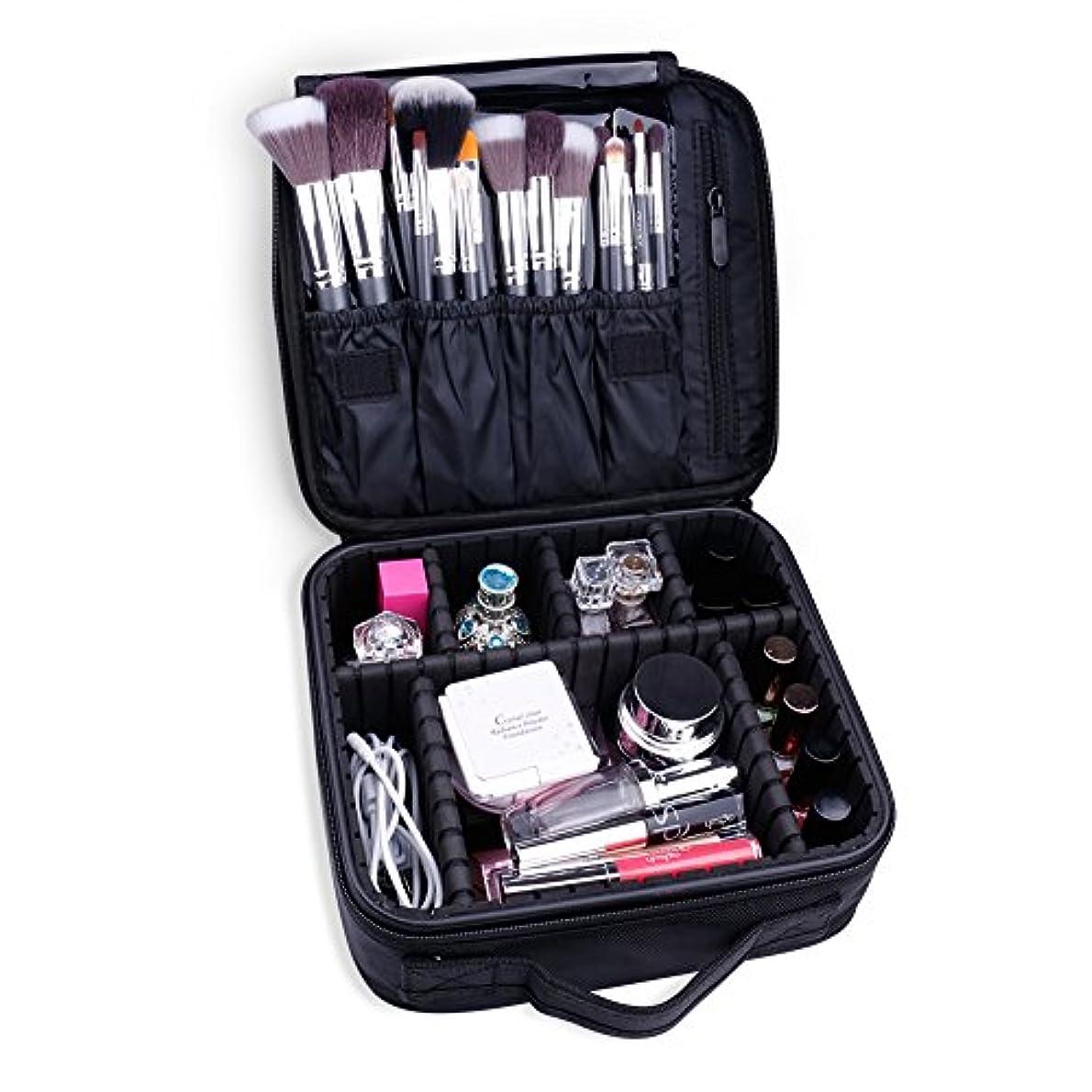 くぼみパフ長さDocolor ドゥカラー 化粧ポーチ 高品質 多容量 化粧バッグ 多機能収納ケース