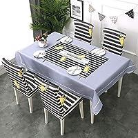 CHY 防水長方形テーブルクロスコットンリネン、ビュッフェテーブルのための偉大な、パーティー、休日のディナー (Color : B, Size : 140*180cm)